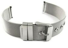 New 22mm Lug Milanese Mesh Silver Stainless Steel Watch Strap Band 22 mm W7 UK