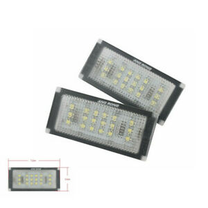 2Pcs For BMW 3 Series Coupe M3 Convertible Canbus LED License Number Plate Light