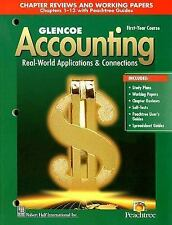 Glencoe Accounting: 1st Year Course, Chapter Reviews and Working Papers 1-13