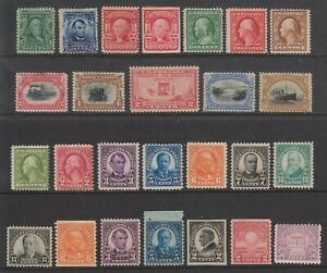 USA early 20th C. unused selection incl #296, #297, #299, #304