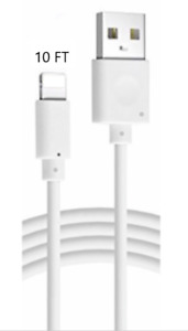 10FT Long USB Cable For iPhone5 6 7 8Plus X Xs Max Xr 11 Charger