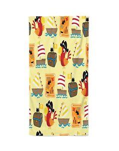 PARROT  Personalized Beach Kids Towel , Summer Gift , Bath Towel, Pool towel