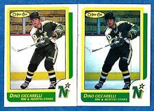 1986-87 O-Pee-Chee Regular & Blank Back DINO CICCARELLI (ex-mt) #138 & Error