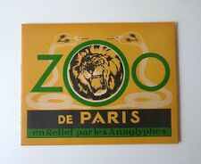 ZOO de Paris en Relief 3D Editions Les anaglyphes 3D images book Zoo of Paris #1