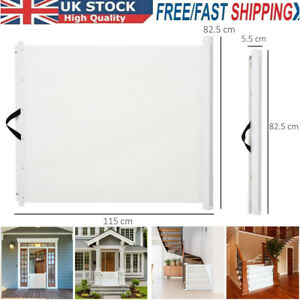 Pet Safety Gate Retractable Dog Barrier Folding Home Doorway Stair Guard UK