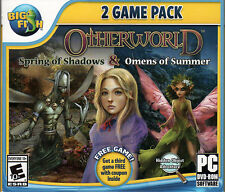 OTHERWORLD: OMENS OF SUMMER + SPRING OF SHADOWS Hidden Object PC Game DVD NEW