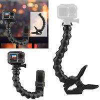 For GoPro Hero 8 7 6 5 Sjcam Yi 4K Camera Clamp Mount Bracket w/Gooseneck Tripod