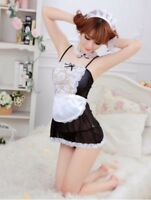 Hot French Maid Uniform Fancy Dress Costume Hen Party Ladies Women Outfit