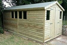 16 x 8 19mm Tanalised & Pressure Treated T&G Apex workshop Shed
