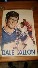 Dale Talon Hockey Poster 1970 Vancouver Canucks