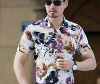 US Men's Shirt Summer Floral Holiday Beach Short Sleeve Tops Casual Tee Casual