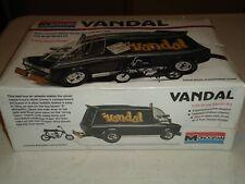 MONOGRAM VANDAL CUSTOM VAN WITH MINIBIKE SEALED 1996  REISSUE  MODEL CAR KIT