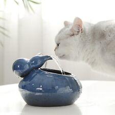 Fashion Dog Cat Pet Ceramic Water Drinking Fountain Automatic Feeder Bowl Decor