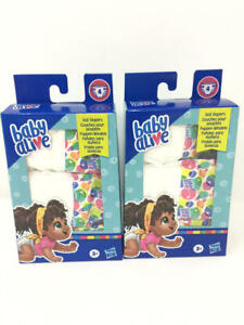 (2 Pack) Baby Alive Doll Diaper Refill, Includes 4 Diapers, Toys Accessories,