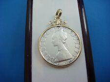 """""""500 LIRE"""" MILOR ITALIAN COIN PENDANT IN 14K YELLOW GOLD FRAME 12.5 GRAMS"""