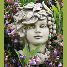 Betonguss Blumenkind Herbst Gartenfigur Skulptur Deko Gartenstab Figur Frühling