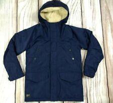Marshall Artist Navy Field Coat Padded Jacket Waterproof Fleece Lined Hood M