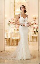 New Backless Mermaid Wedding Dress Bridal Gown Custom Size 4 6 8 10 12 14 16 +++