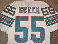 VTG AUTHENTIC 80's HUGH GREEN MIAMI DOLPHINS NFL SAND-KNIT JERSEY 42 RARE!