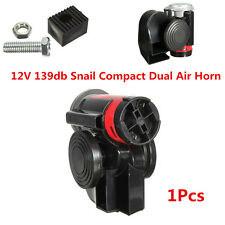 12V 139db Loud Snail Ultra Compact Dual Air Horn For Car Motorcycle Yacht Boat