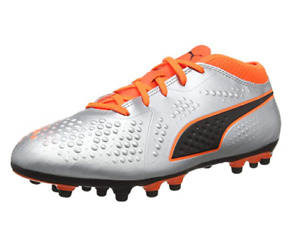 Puma Football Junior Boots (UK 5.5) ONE 4.0 Syn AG Boots - Silver - New