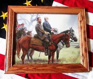 Civil War Painting Print. Robert E Lee, Stonewall Jackson, Richmond, Gaines Mill