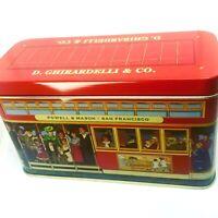 """Ghirardelli San Francisco Tin Box Cable Car 6""""x3.5""""x2.5"""" Rectangle Collectible"""
