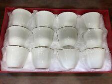 Arabic Turkish Coffee Cups, white Set of 12