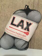 Lax White Lacrosse Practice Balls 6 Pack
