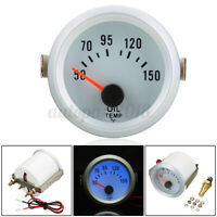 2'' 52mm Blue Led Digital Olio Temperatura Temp Manometro Strumento 12v ! /