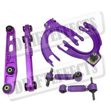 For 88-91 Civic Crx EF DA Purple Front+Rear Upper Camber+Rear Lower Control Arm