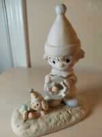 "The Enesco Precious Moments, Figurine, 1985, "" THE LORD WILL CARRY YOU THROUGH"""