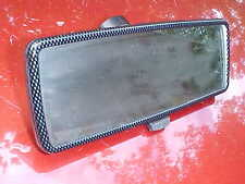 carbon fiber style rear view mirror,289 glass,black back,glue on style,day/nite