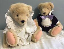 Vintage Muffy Vanderbear, Set Of 2 Bears Gown Tuxedo 1982