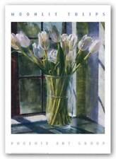 Moonlit Tulips P Moss Art Print 28x24
