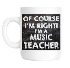 Profesor de música de Escuela Regalo Novedad Taza Shan 778