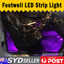 Interior Car LED Strip Footwell Light Trunk Area Lamp Purple 4x 30cm For Holden