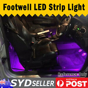 Purple/Pink Interior Car LED Strip Footwell Light Trunk Area For Holden 4x 30cm