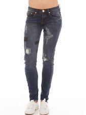 One Teaspoon milke Bleu Hoodlums Distressed Slim Denim Patch Jean 7 10