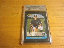 Chien-Ming Wang 2003 Bowman Draft Picks Autographed GAI Certified Card MLB