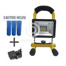 Faro Led Portatile Ricaricabile 30W Luce Fredda Faretto Batterie Sostituibili IP