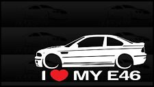 I Heart My E46 Sticker Decal Love BMW M3 Slammed Euro Germany Coupe