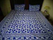Rajasthani/Jaipuri hand block printed Traditional coton Bedsheet with 2 Pillow