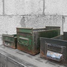 Vintage Industrial Metal Drawers Storage Shop Window Display Boxes1940s Stacking