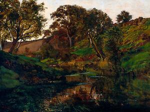Julian Ashton - Evening, Merri Creek, 1882, Australian Art Poster - Canvas Print