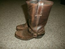 FRYE Womens Harness Motocyle Boots * Brown w/Square T Size 6.5M