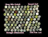 100 % Natural Loose Rough Diamond Round Cut Mix Color ( 100 pcs lot ) Q56