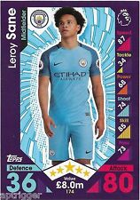2016 / 2017 EPL Match Attax Base Card (174) Leroy SANE Manchester City