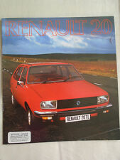 Renault 20 brochure Jul 1976