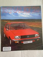 Renault 20 brochure Jul 1976